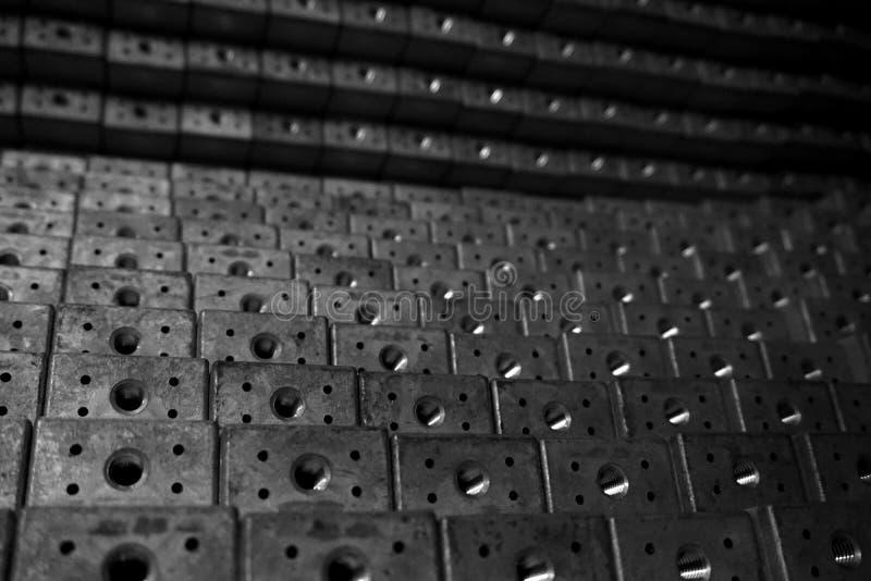 Stapel van roestvrij staal vierkante buis royalty-vrije stock fotografie