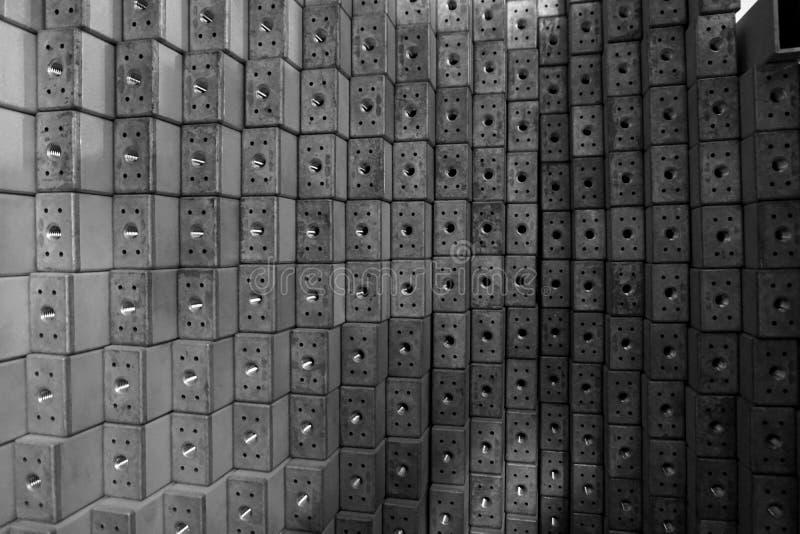 Stapel van roestvrij staal vierkante buis royalty-vrije stock foto's