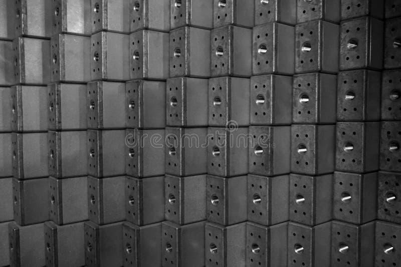 Stapel van roestvrij staal vierkante buis royalty-vrije stock foto