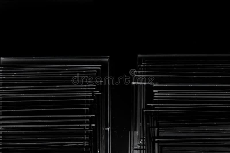 Stapel van roestvrije lijn royalty-vrije stock afbeelding
