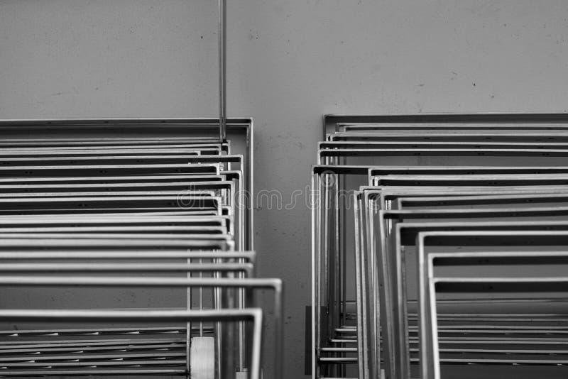 Stapel van roestvrije lijn stock foto