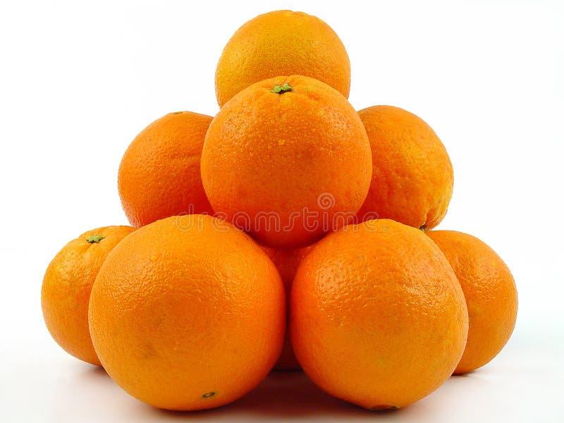 Stapel van sinaasappelen stock fotografie