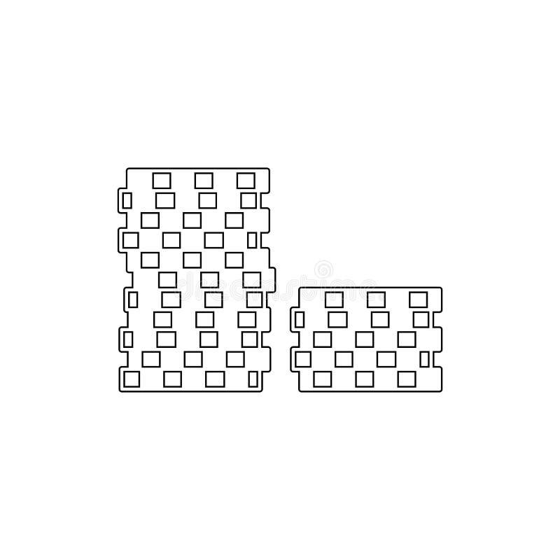 Stapel van spaanderspictogram Element van casinopictogram Grafisch het ontwerppictogram van de premiekwaliteit Tekens en symbolen royalty-vrije illustratie