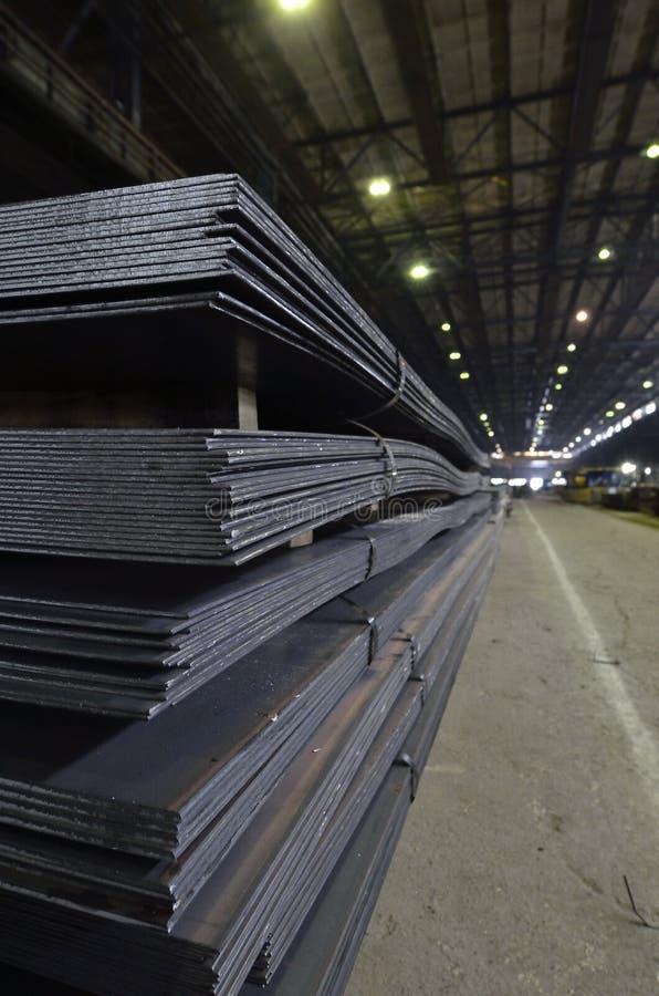 Stapel van staalplaat royalty-vrije stock afbeeldingen