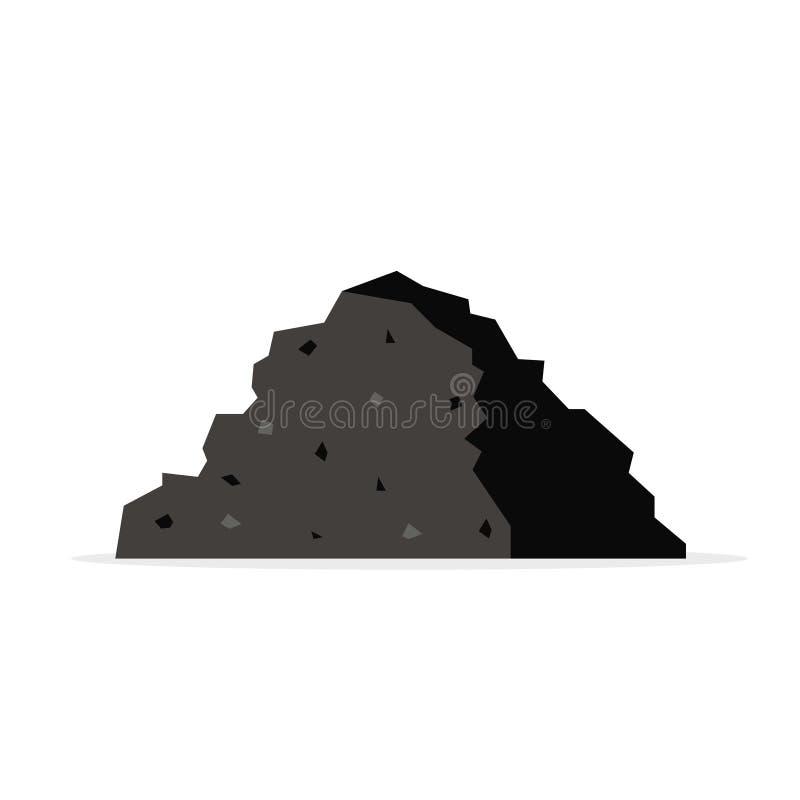 Stapel van steenkool royalty-vrije illustratie