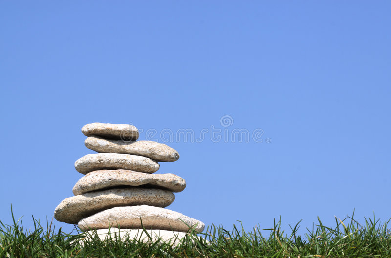 Stapel van stenen stock foto's