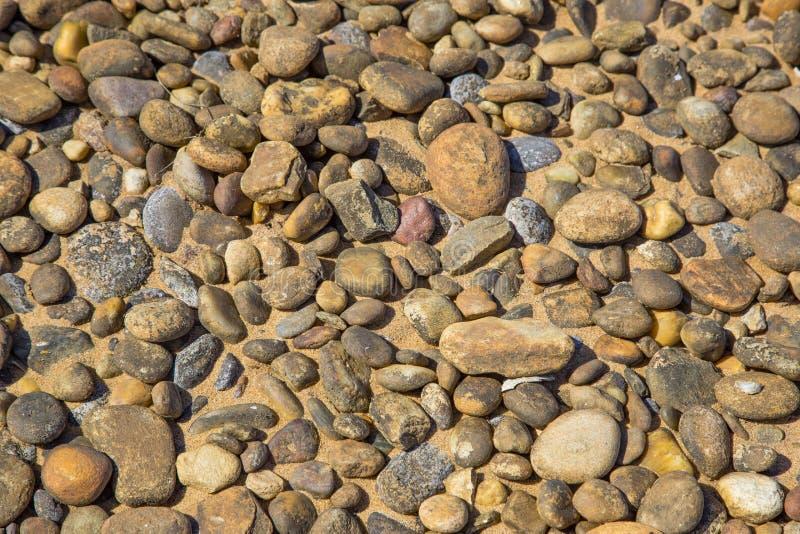Stapel van Strandstenen stock afbeelding