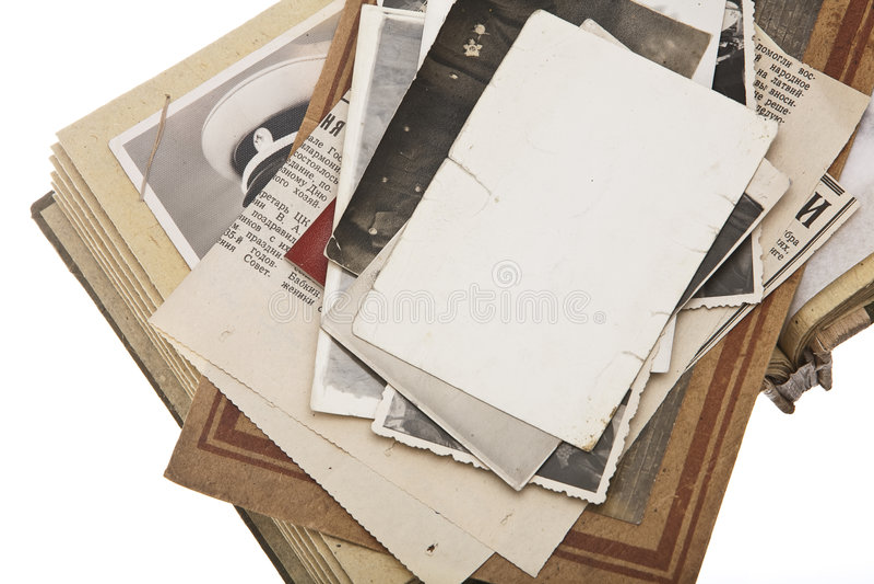 Stapel van Uitstekende foto's royalty-vrije stock foto's