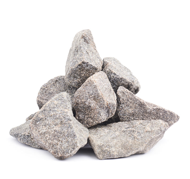 Stapel van veelvoudige geïsoleerde granietstenen royalty-vrije stock foto's