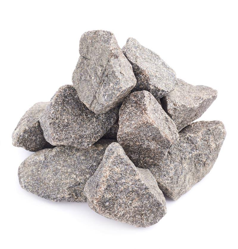 Stapel van veelvoudige geïsoleerde granietstenen royalty-vrije stock afbeelding