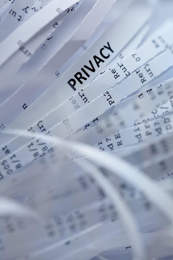 Stapel van verscheurd document - privacy stock foto's