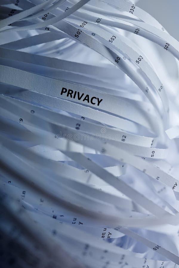 Stapel van verscheurd document - privacy royalty-vrije stock afbeelding