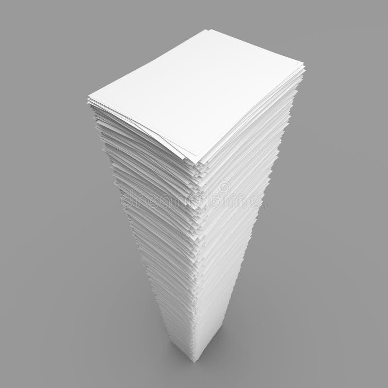 Stapel van Witboekbladen vector illustratie