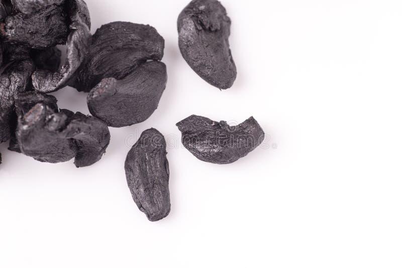 Stapel van Zwart Knoflook royalty-vrije stock foto