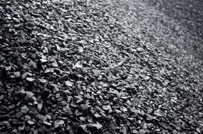 Stapel van Zwarte Steenkool royalty-vrije stock foto's