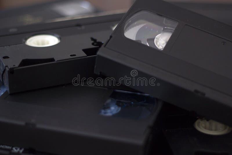 Stapel VHS-Kassetten stockfoto