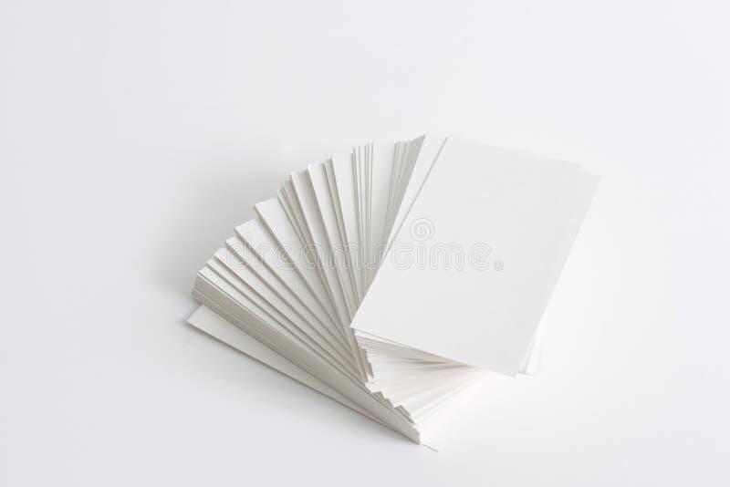 Stapel Visitenkarten stockbilder