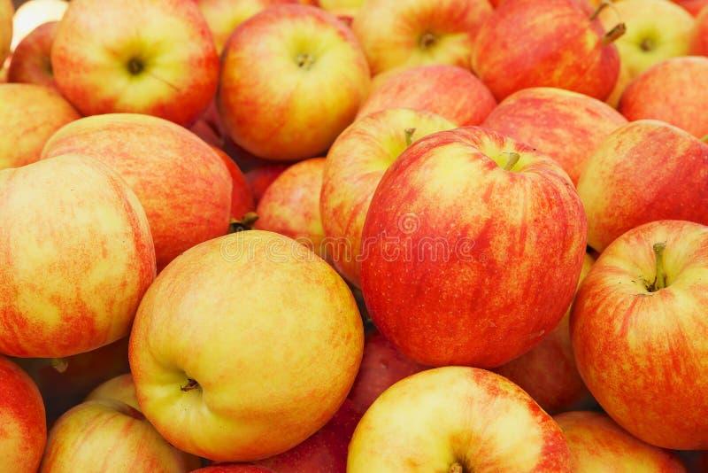 Stapel von Äpfeln lizenzfreie stockfotos