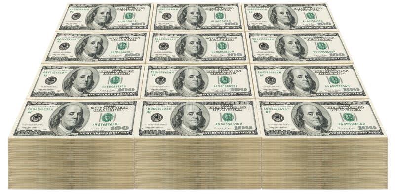 Stapel von $100 Rechnungen lizenzfreies stockfoto