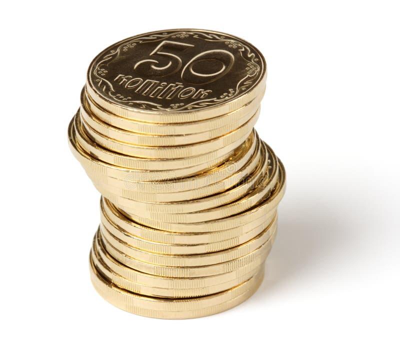 Stapel von goldene Münzen lizenzfreies stockfoto