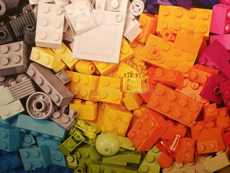 Stapel von Legos lizenzfreie stockfotos
