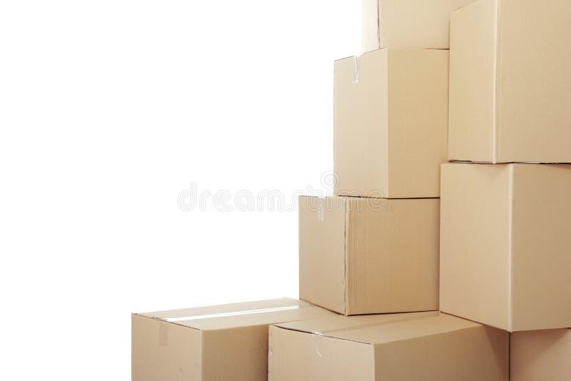 Stapel von Pappschachteln stockfoto