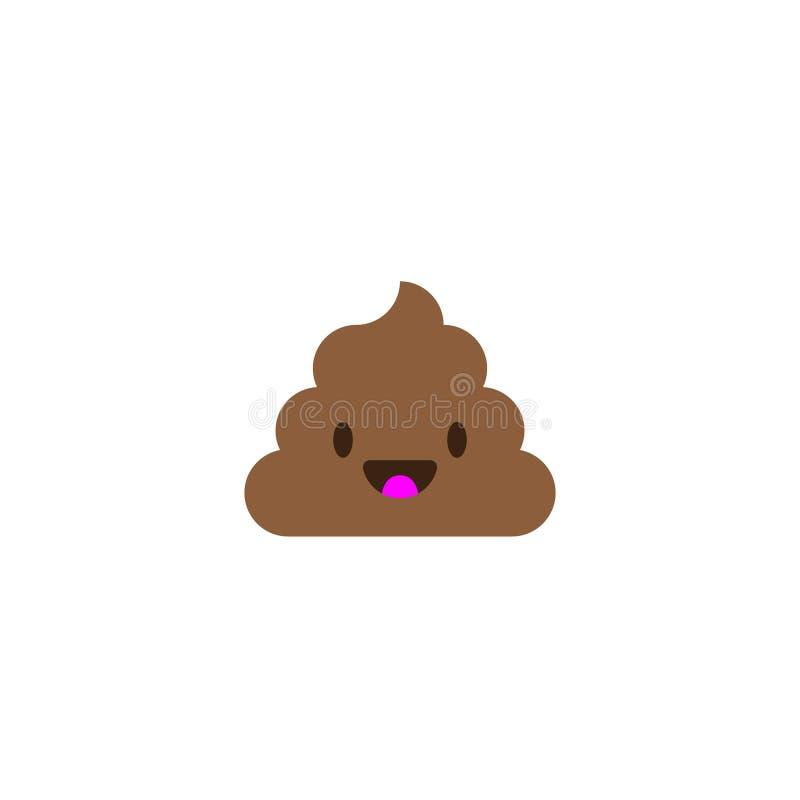 Stapel von Poo-Ikone Scheiße Emoticon lizenzfreie abbildung