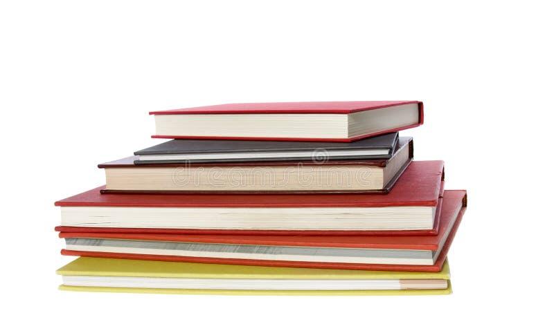 Stapel von sechs Büchern lizenzfreies stockfoto