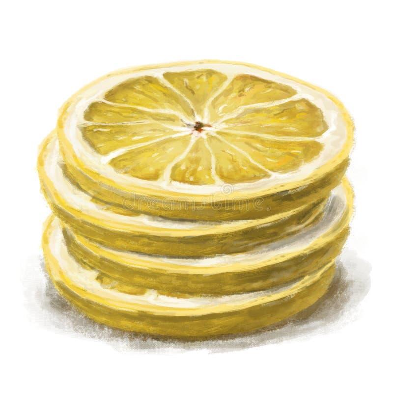 Stapel von vier Zitronenscheiben vektor abbildung