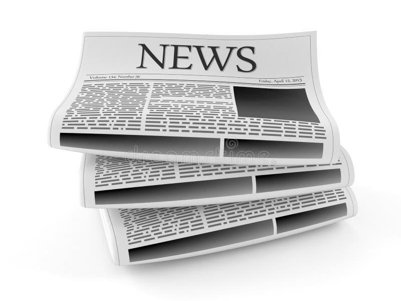 Stapel Zeitungen lizenzfreie abbildung
