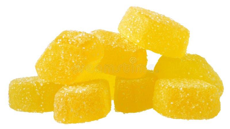 Stapelfrucht-Gelbsüßigkeit lizenzfreie stockfotos