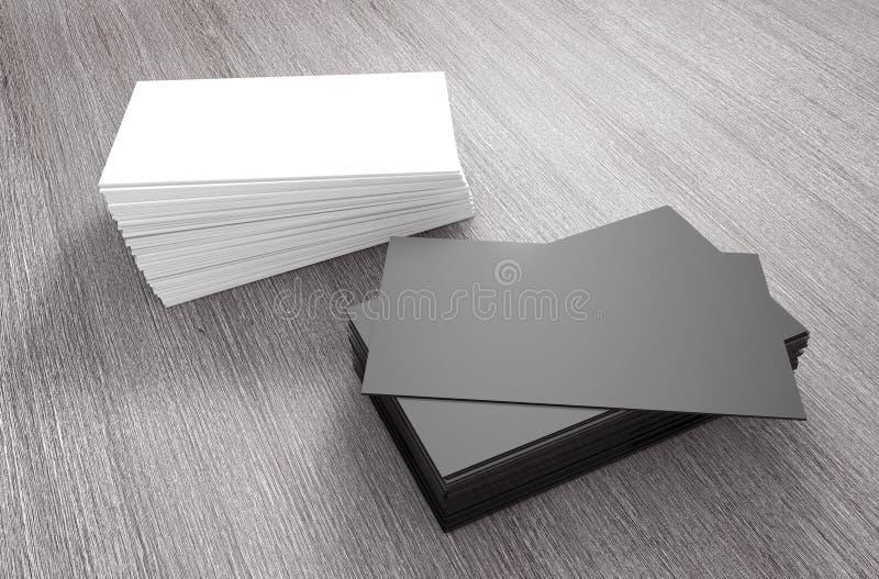 Stapels lege adreskaartjes het 3d teruggeven vector illustratie