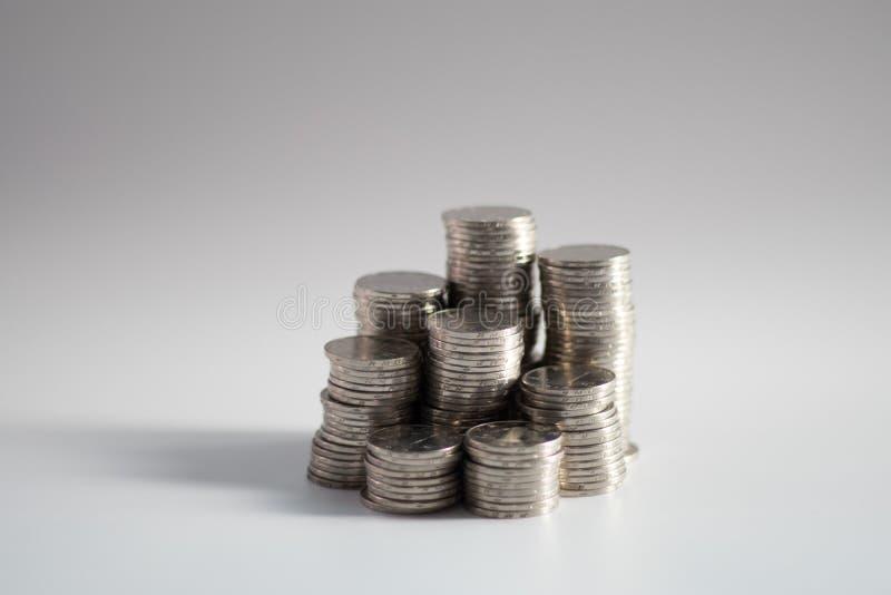 Stapels muntstukken royalty-vrije stock afbeeldingen