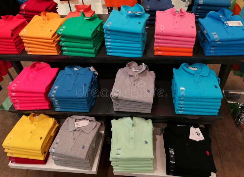 Stapels T-shirts royalty-vrije stock fotografie