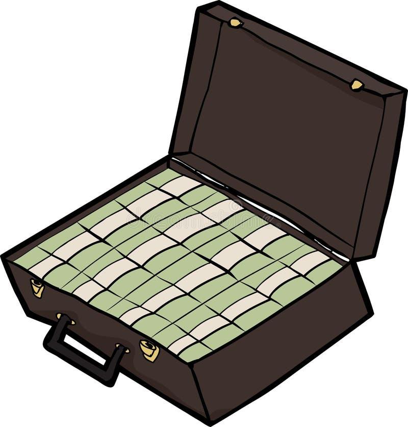 Koffer Contant geld stock illustratie