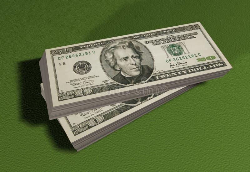 Stapels van dollars royalty-vrije illustratie