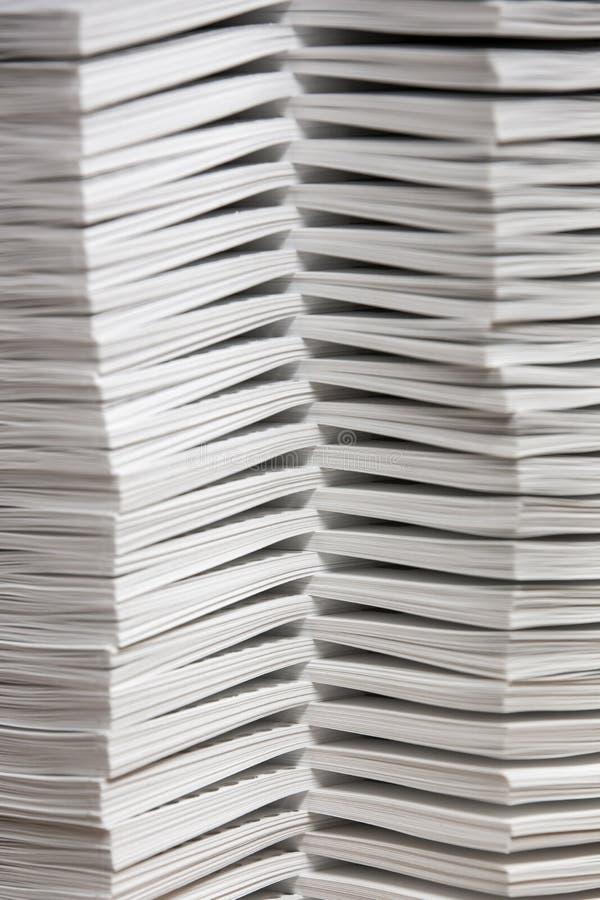 Stapels van Gebij elkaar bracht Document royalty-vrije stock afbeelding