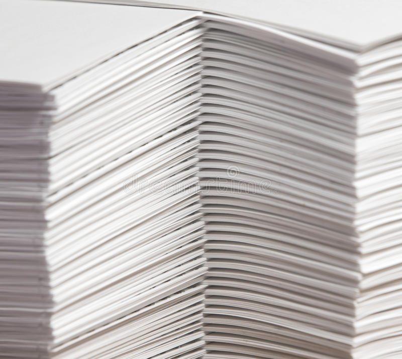 Stapels van Gebij elkaar bracht Document royalty-vrije stock fotografie