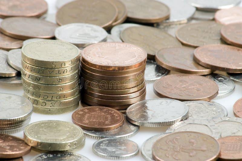 Stapels van geld stock afbeelding