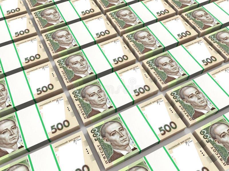 Stapels van Oekraïens geld stock illustratie