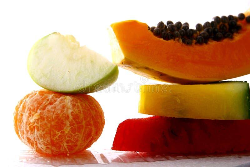 Stapels verse rijpe vruchten stock fotografie