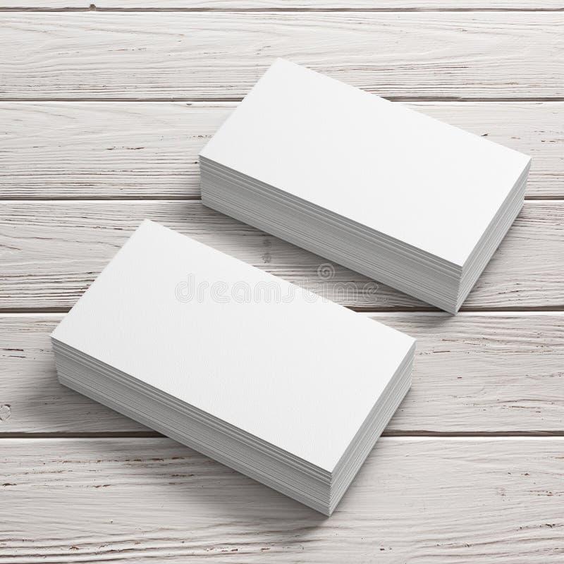 Stapels Witte Lege Adreskaartjes het 3d teruggeven royalty-vrije illustratie