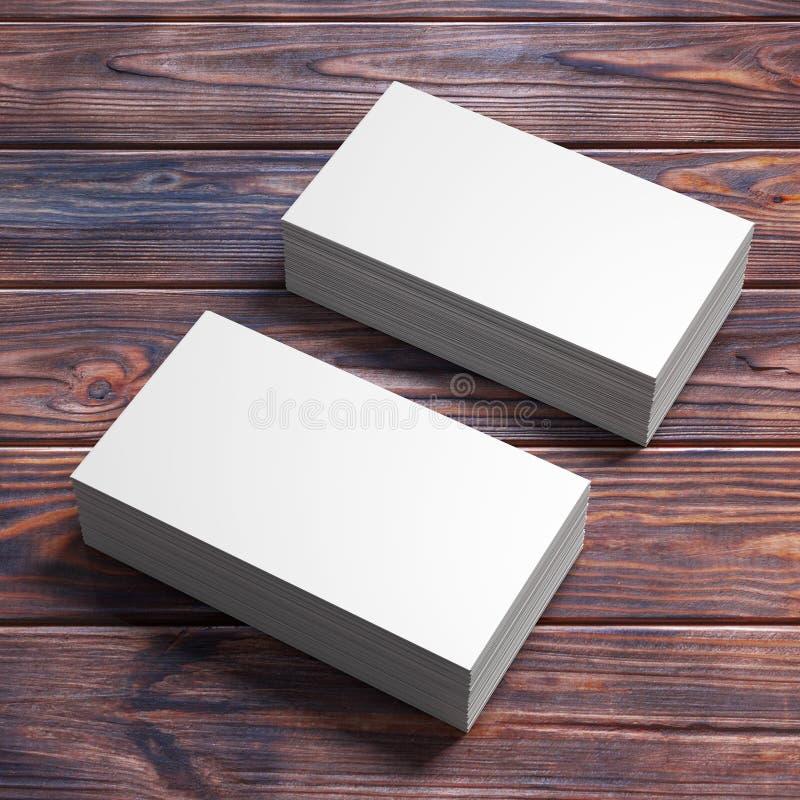 Stapels Witte Lege Adreskaartjes het 3d teruggeven vector illustratie