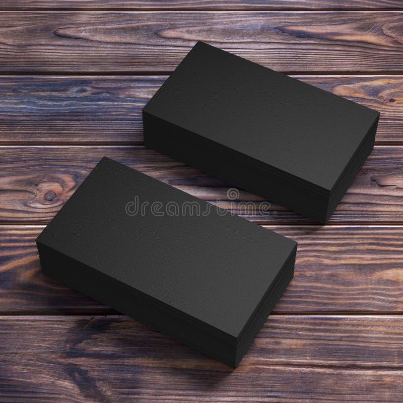 Stapels zwarte lege adreskaartjes het 3d teruggeven vector illustratie
