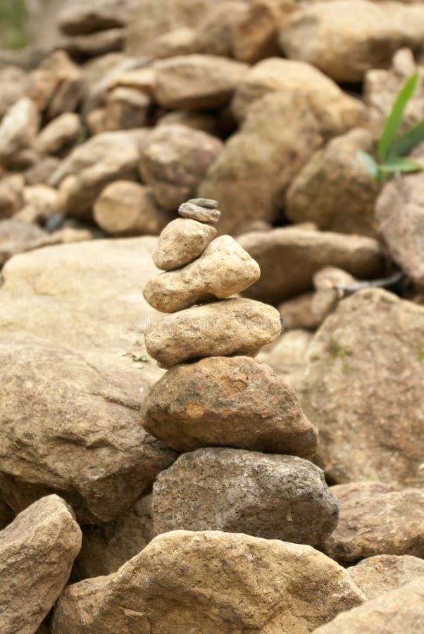 stapla stenar royaltyfri bild