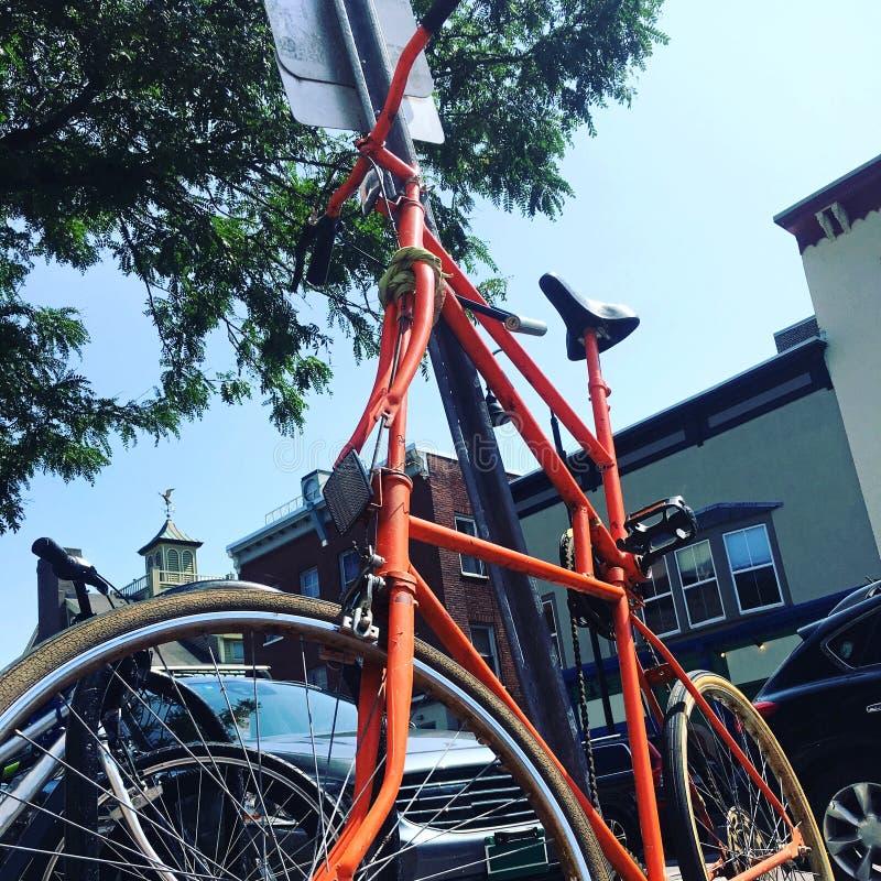 Staplad cykel för dubbel ram royaltyfri bild