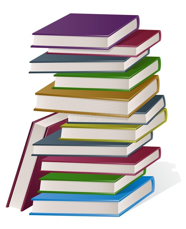 Staplad stapel av böcker stock illustrationer