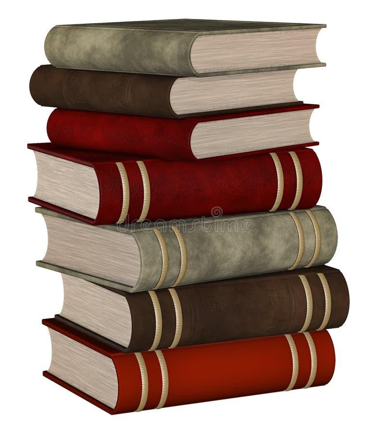 Staplade böcker stock illustrationer