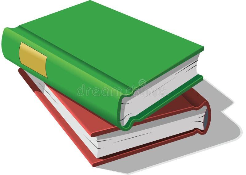 staplade böcker vektor illustrationer