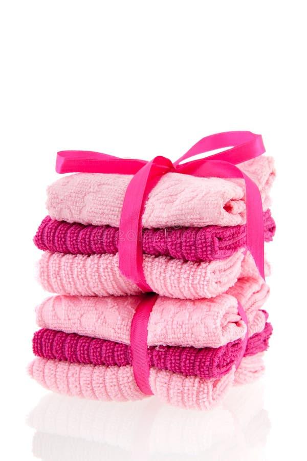 Staplade handdukar royaltyfria bilder